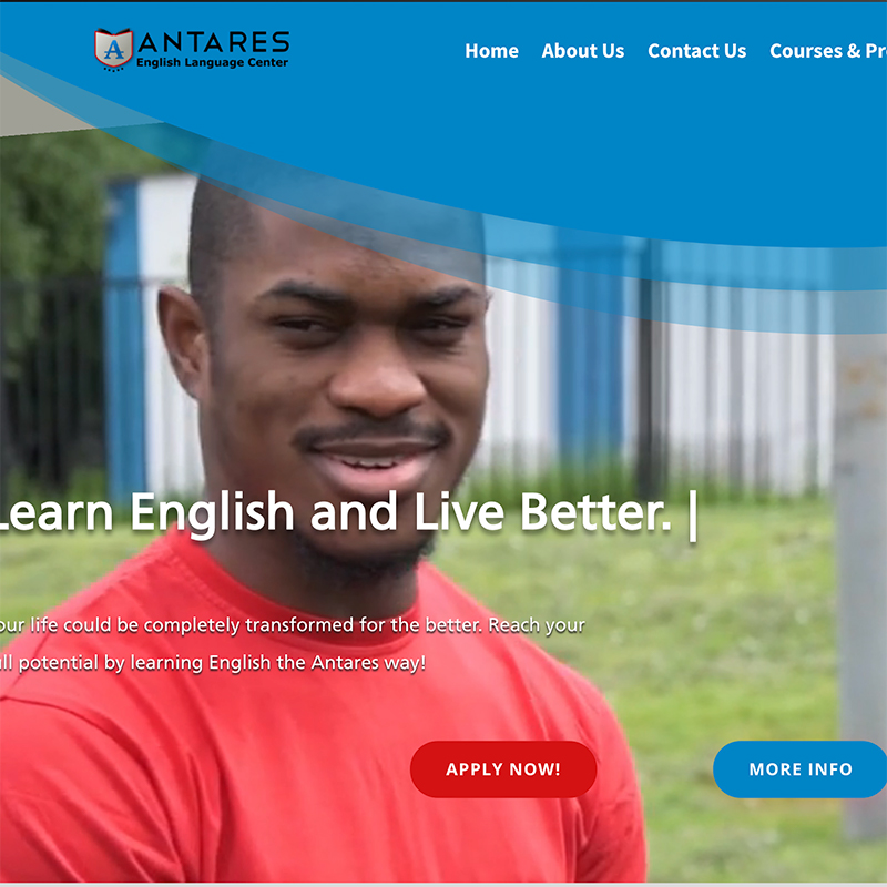 Antares English Learning Website
